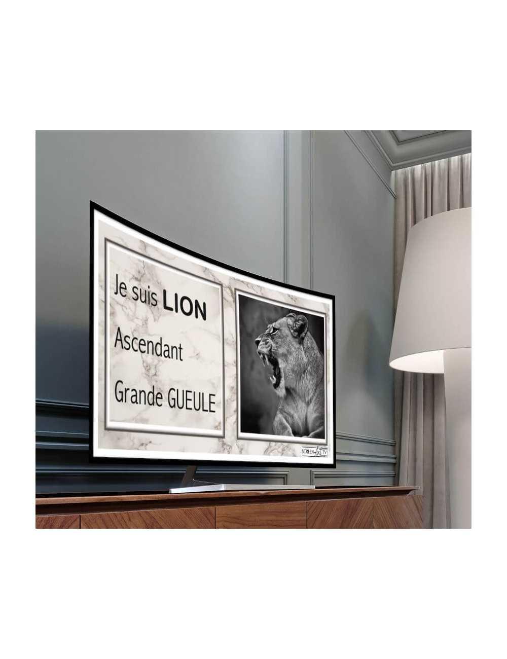Nos Visuels - 203 1-SIGNE ASTROLOGIQUE LION GRANDE GUEULE