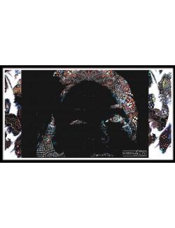 185 1-PORTRAIT DE CLAIR OBSCUR EN MOUCHARABIEH