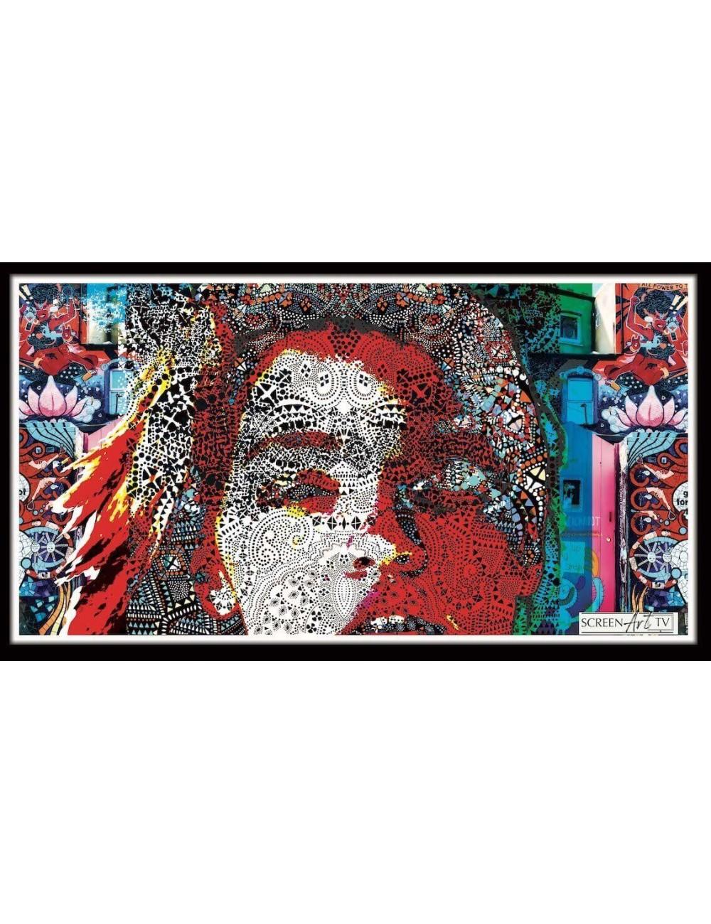 190 1-PORTRAIT FEMME MOUCHARABIEH MODERNE