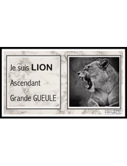 203 1-SIGNE ASTROLOGIQUE LION GRANDE GUEULE