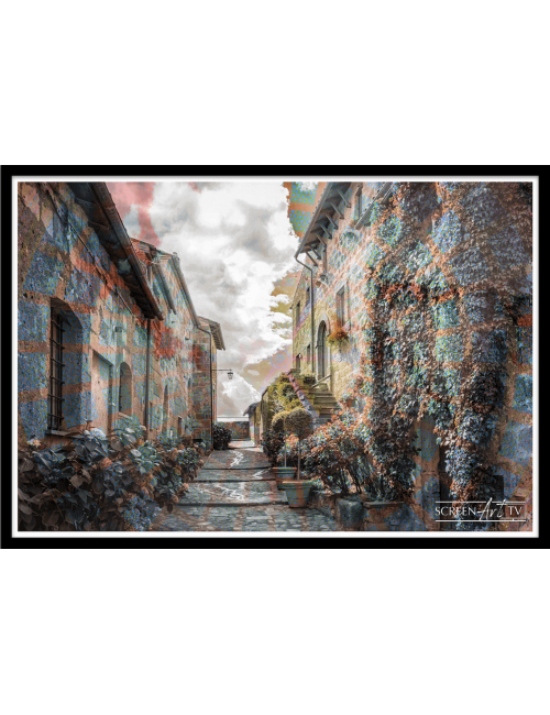 230 1-VILLAGE EN COULEUR
